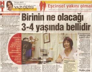 """""""Eşcinsel yakını olmak"""" yazı dizisi / Ümran Avcı / HaberTürk / 19 Ekim 2009"""
